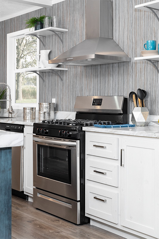 Kitchen Range with Hood